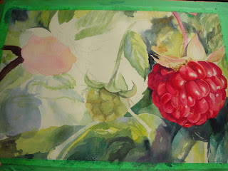 Raspberry painting progress photo 2