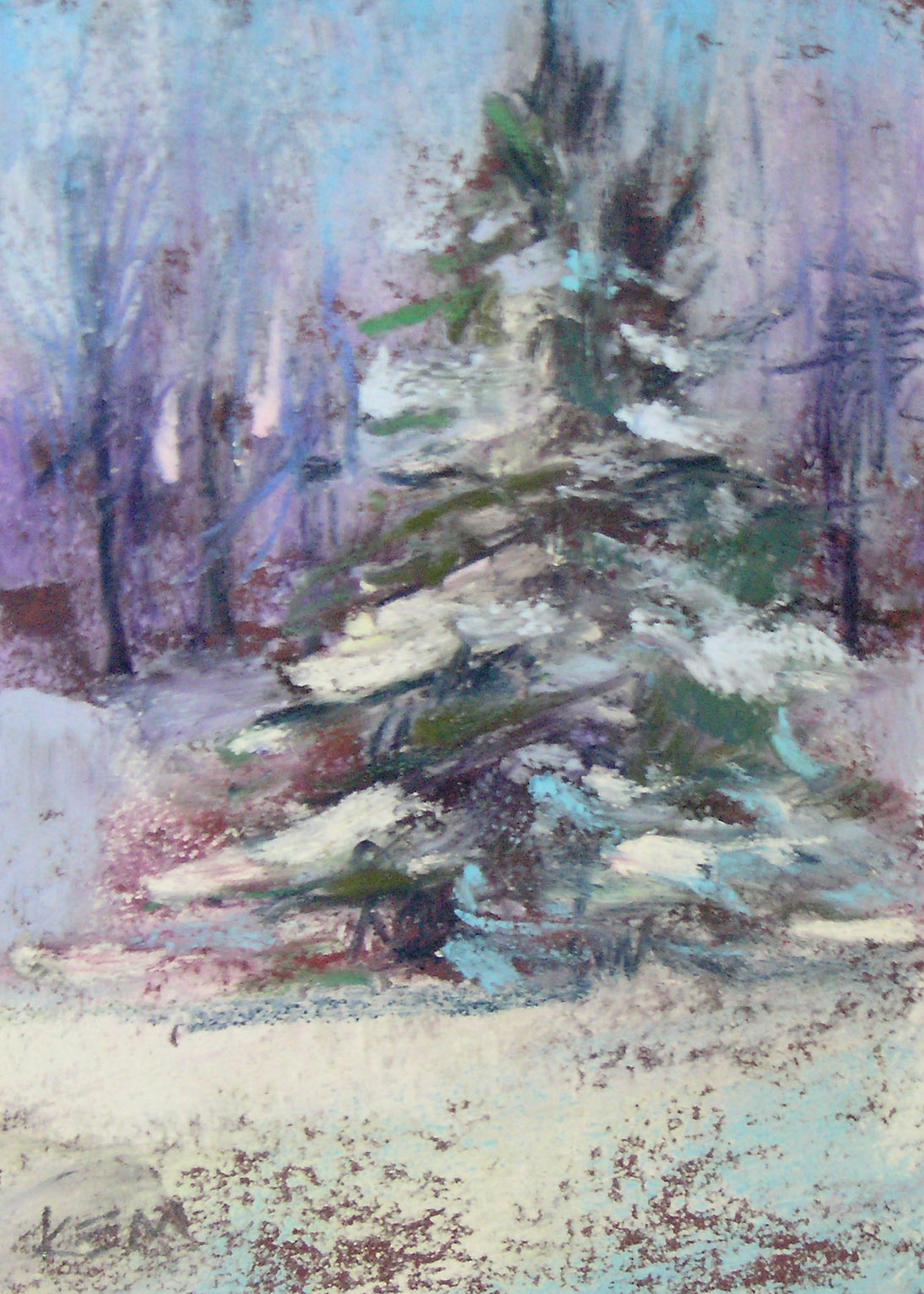 Winter Landscapes Miniature Pastel Paintings 20 Each