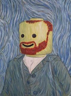 Vincent Van Gogh LEGO portrait