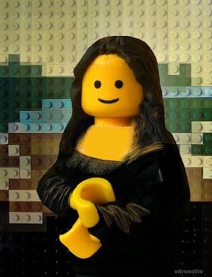 Mona Lisa LEGO style