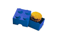 blue lego lunchbox - opened