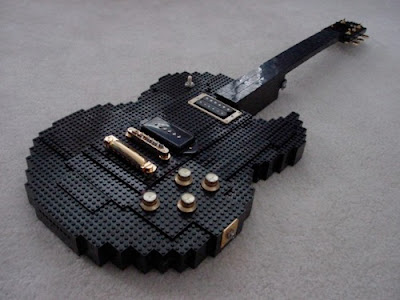Playable LEGO guitar