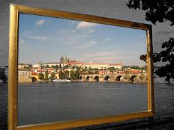 Charles Bridge in the frame
