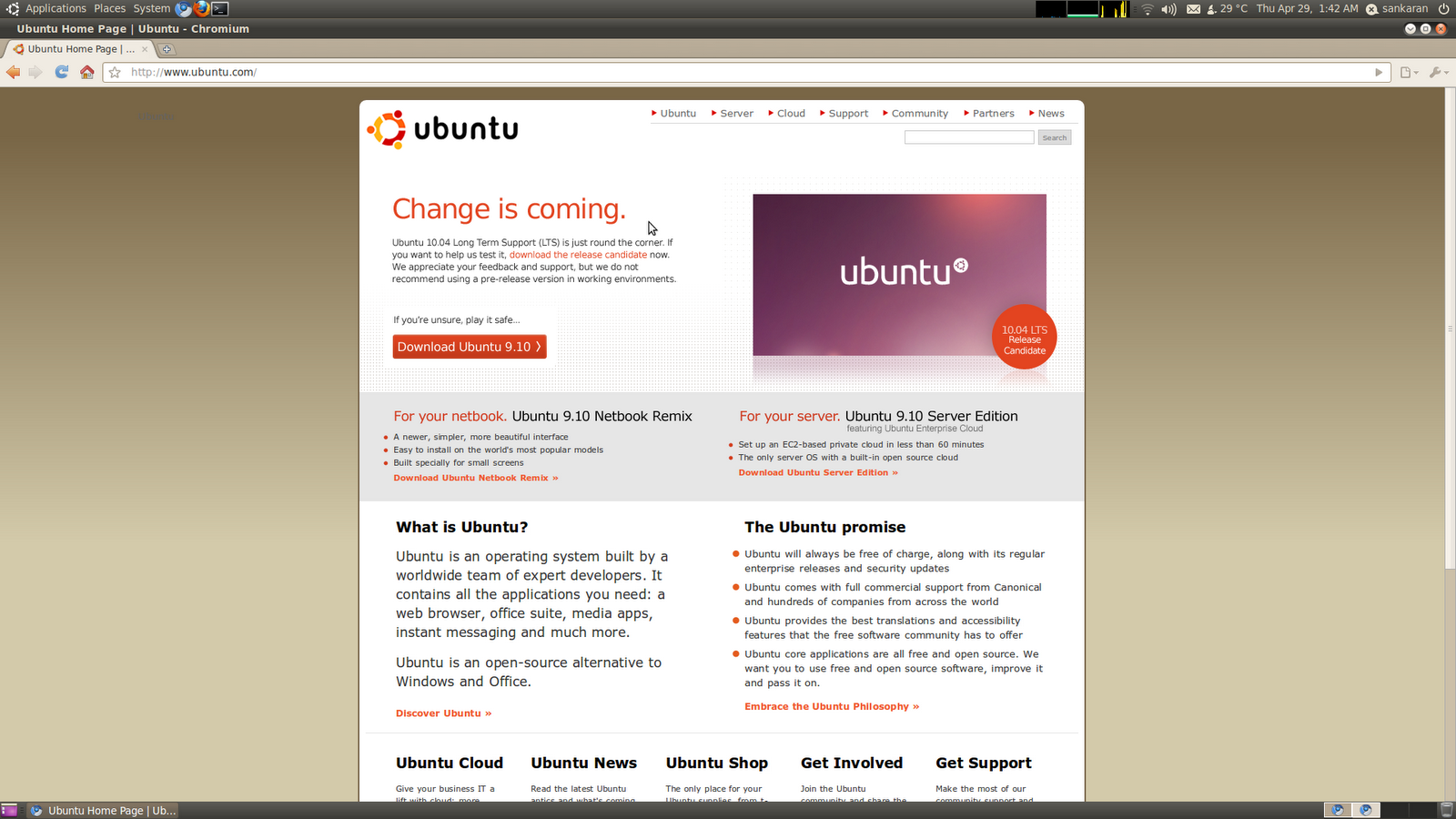 My experiments with Linux: A thing (release) of Ubuntu Lucid is a
