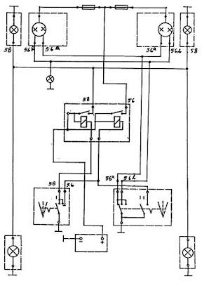 AUTOMOTIF 513Y: rangkaian sistem lampu kepala mobil