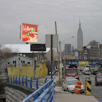 Fresh Direct TV - The giant TV above the Fresh Direct plant on Borden Ave. in Long Island City, Queens.
