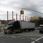 Dark Truck, Dark Skies - And naked columns at Grand St. & Driggs Ave. in Williamsburg.