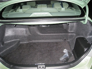Trunk E In The Camry Hybrid Is Compromised By Necessary Battery Pack Which Resides Between Rear Seat And S Cargo Area