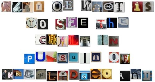 Besbello TIC Write a message using cut out magazine letters