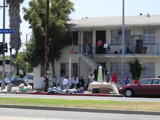 Hispanic yard sale