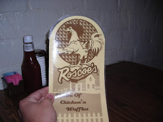 Roscoe's menu