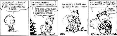 Calvin, Hobbes n Track Santa