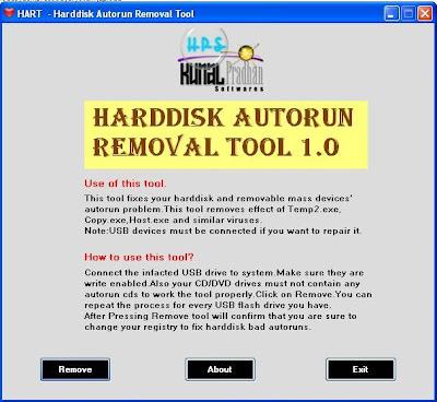 autorun remover tool