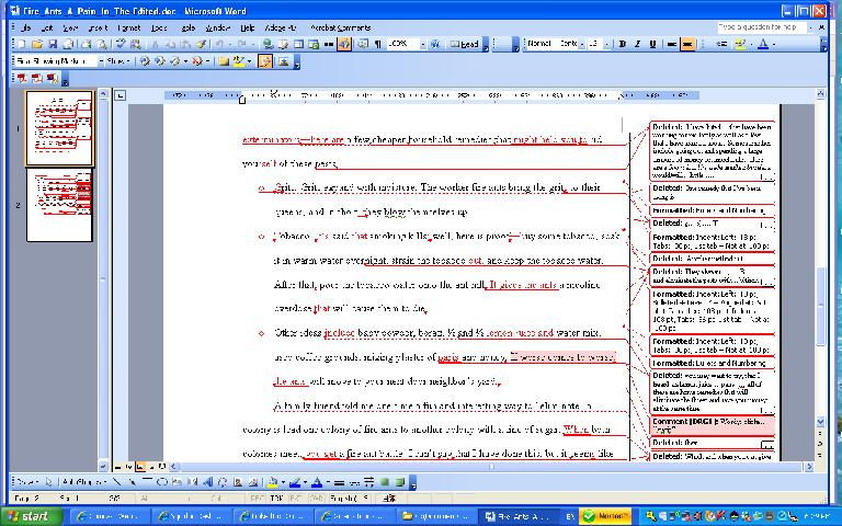 Dave\u0027s Thoughts An Example of an MS-Word Document Edited Using the