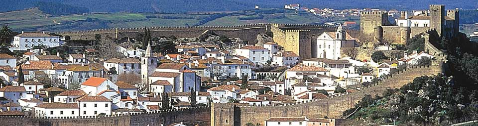 Obidos, elected the wonder of Portugal, a purely preserved medieval city