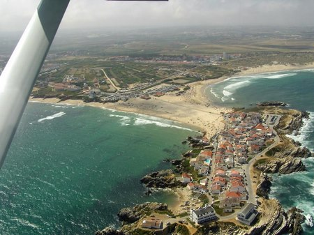 Baleal beach, a village into the sea