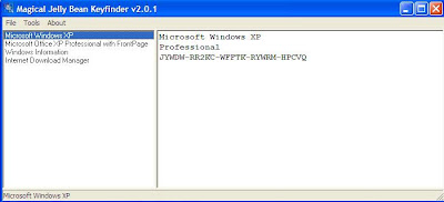 Windows XP keyfinder,Windows XP şifre bulucu
