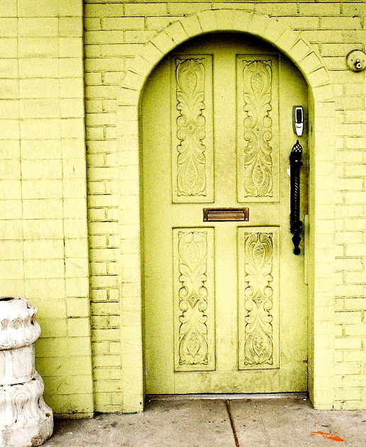 Green Front Doors: Bellevue And Rose: Inspired By {lime Green Front Doors}