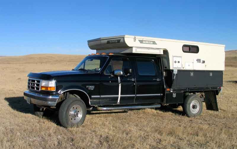 for sale ads 1997 ford f350 truck camper rig. Black Bedroom Furniture Sets. Home Design Ideas
