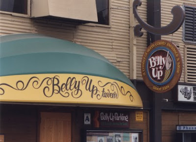 Belly Up Tavern sign, Solana Beach, California