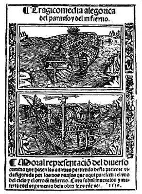Ilustração da edição original do Auto da Barca do Inferno