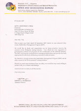 DENR-MGB Endorsement for Stakeholders Management Program