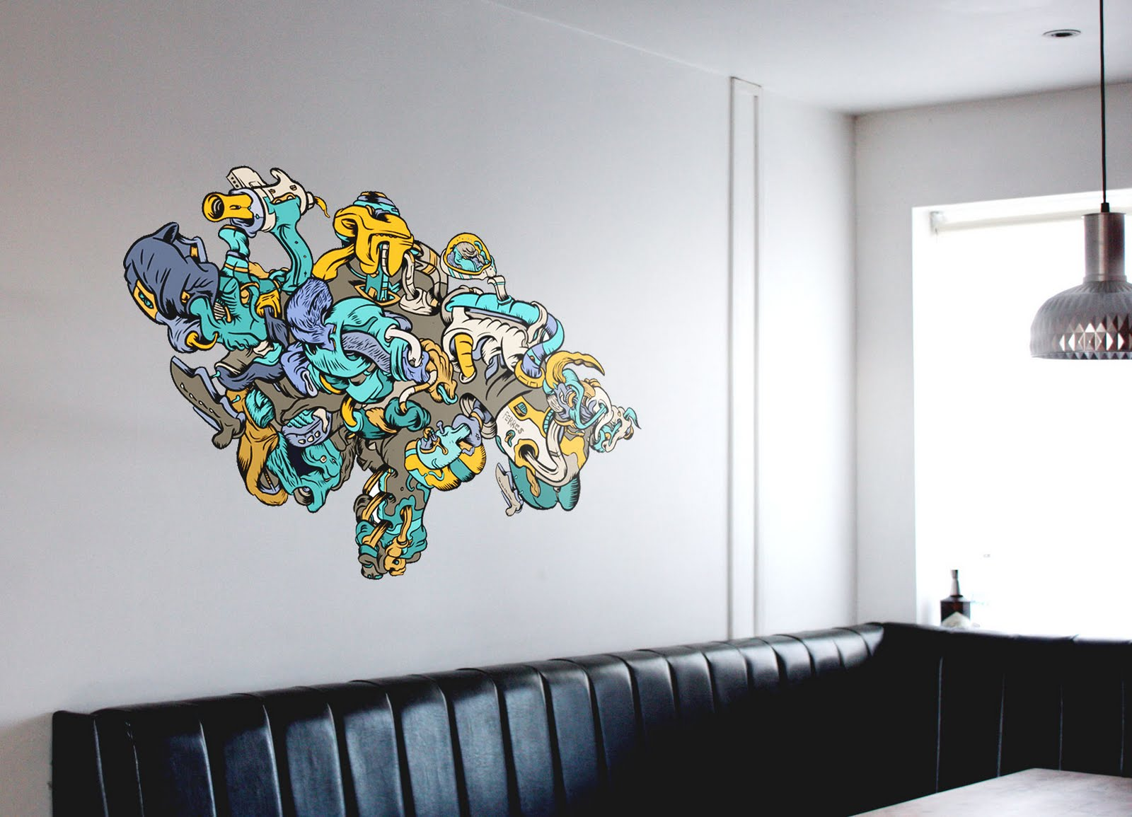 What I've been doing...: Self adhesive wall art