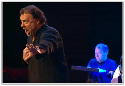 Bryn Terfel as Don Giovanni and a slightly blue Thomas Quasthoff as Commendatore in the Verbier Festival