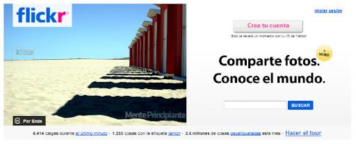 Compartir Fotografías en Línea - Flickr - menteprincipiante.com