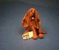 Bloodhound polymer clay