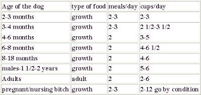 Eukanuba Rottweiler Dog Food Feeding Chart