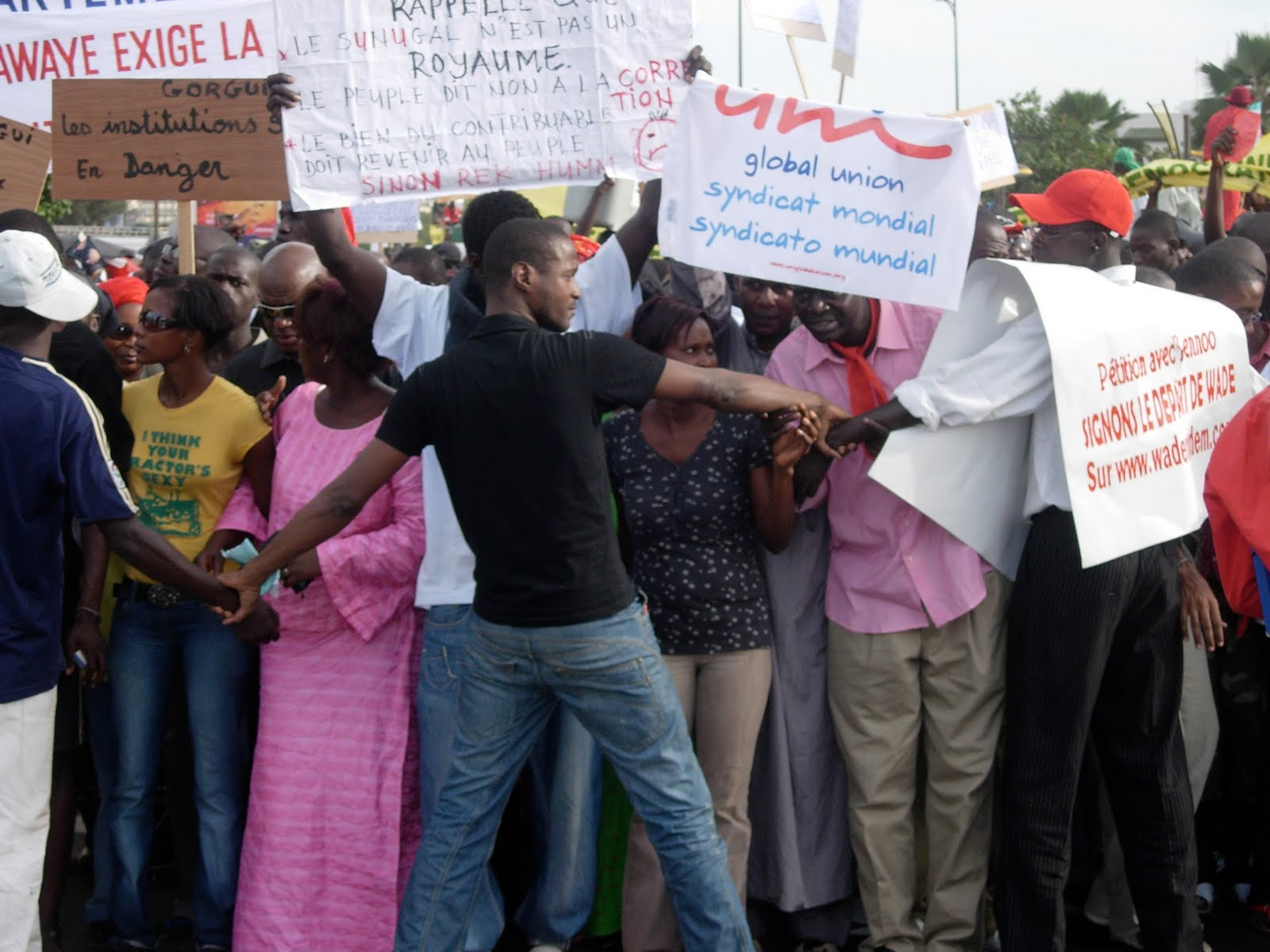culture and politics  senegalese protest against president