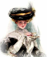 Victorian Lady Drinking Tea
