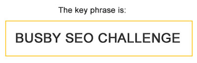 Busby SEO Challenge's keyphrase