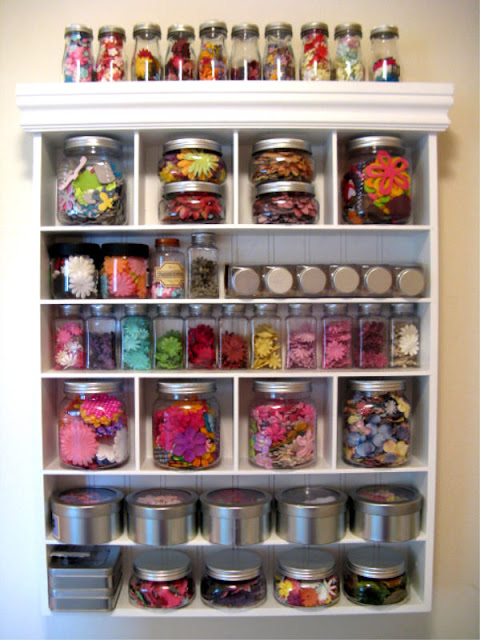 Snippets By Mendi: Paper Flowers Craft Storage Organization