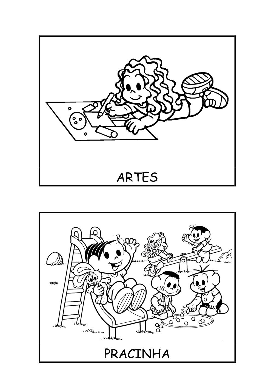 Cantinho Das Atividades Desenhos Turma Da Monica Fichas De Rotina