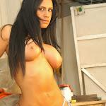 Andrea Rincon, Selena Spice Galeria 4 : Pantalon Azul y Top Transparente Foto 82