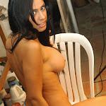 Andrea Rincon, Selena Spice Galeria 4 : Pantalon Azul y Top Transparente Foto 143