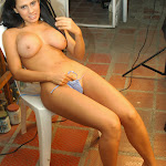 Andrea Rincon, Selena Spice Galeria 4 : Pantalon Azul y Top Transparente Foto 150