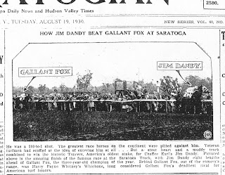 Colin's Ghost: Thoroughbred Horse Racing History » Gallant Fox loses
