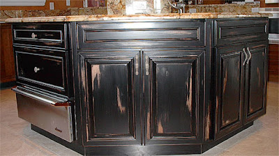 Age And Distress Faux Painting Of Kitchen Cabinets