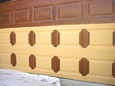Paint that looks like wood faux wood paint colors real for Faux painting garage doors look like wood