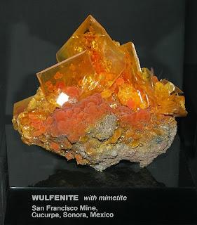 MINERALOGY: Is it a candy? no way Jose, it's a Wulfenite