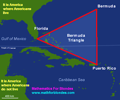 Bermuda triangle and eternal youth. Mathematics for blondes.