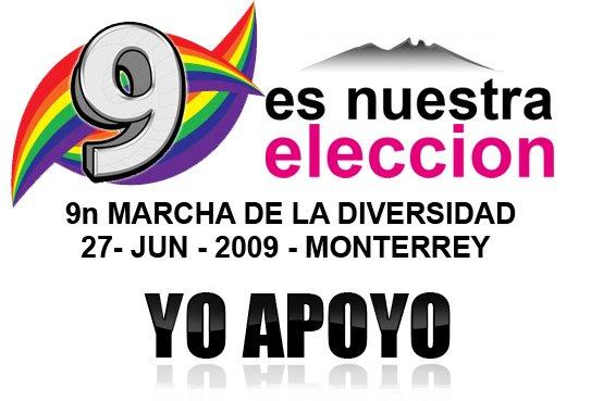 marcha de la diversidad en Monterrey