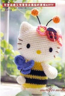 Crochet Pattern * Hello Kitty Angel with Heart – Stricken und ...   320x218