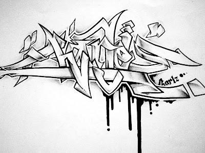 New Grafity Art Image Graffiti Name Black And White