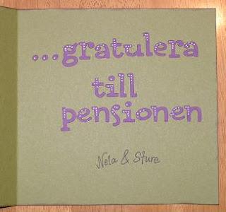 gratulationskort pension Pyssel à la Raggsocka: Gratulationskort gratulationskort pension