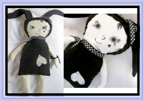 black bunny rag doll by julia finucane