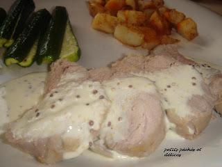 recettes plats  Filet de porc à la Dijonnaise